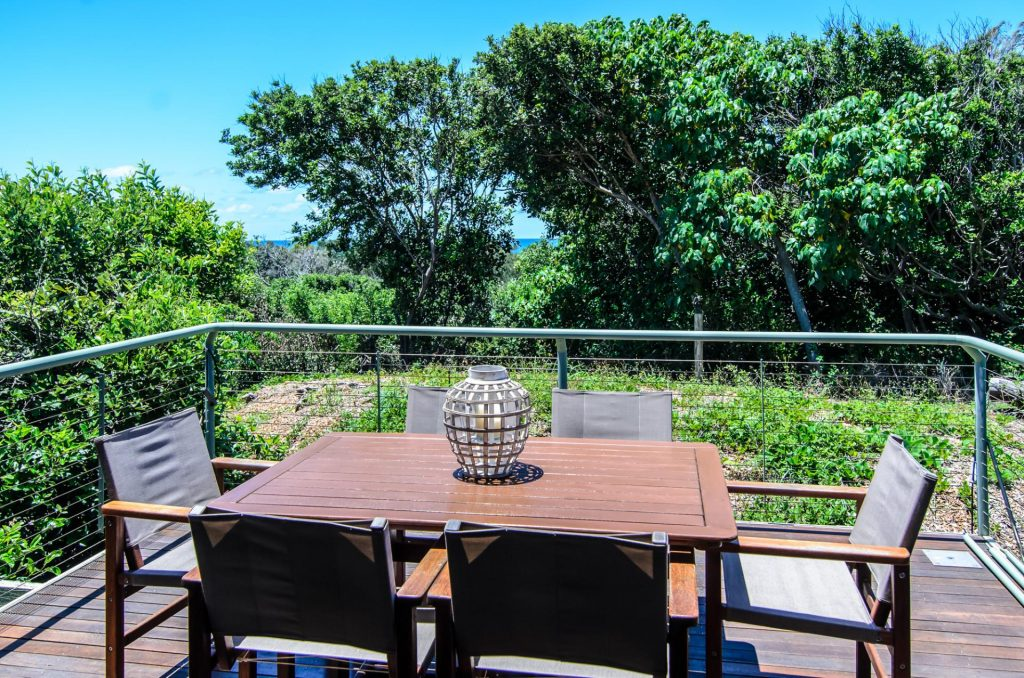 deck set in nature at this Peregian Beach accommodation