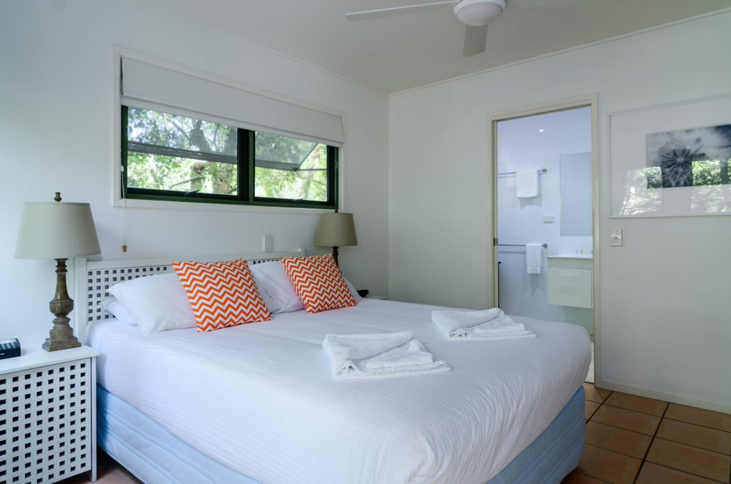 The Retreat Beach Houses have an ensuite in the master bedroom