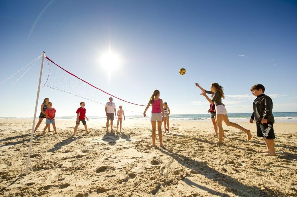 School beach camp