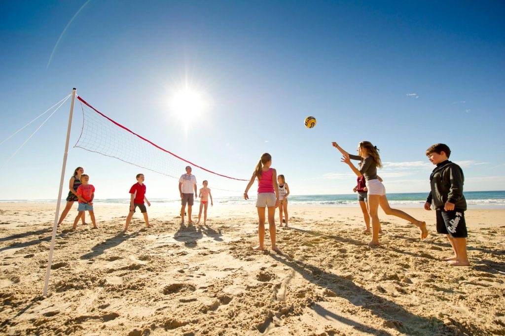 Beach Volleyball on holidays in Noosa
